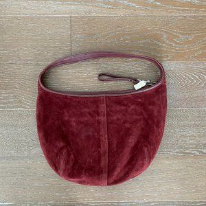 Coach Suede Leather Handbag | Burgundy